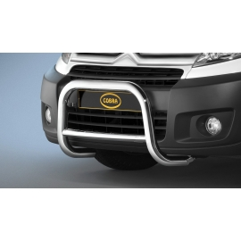 Přední rám z nerezové oceli chrom 60 mm pro Citroen Jumpy, Fiat Scudoe, Peugeot Expert Tepee, Toyota Proace Verso