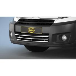 """Přední mřížka nárazníku """"gril"""" z nerezové oceli Ø 15 mm pro Citroen Jumpy Fiat Scudo Peugeot Expert Tepee Toyota Proace Verso"""