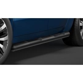 Boční rám s nášlapem, nerezová černá Ø 80 mm pro VW Amarok