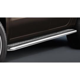 Boční schod z nerezové oceli (dvojitá kabina) pro VW Amarok