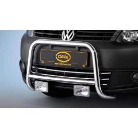 Přední rám z nerezové oceli pochromovaná Ø 48 mm pro VW Caddy + Touran