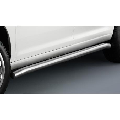 Boční ochranný rám z nerezové oceli kartáčovaný (matný), dlouhý rozvor Ø 60 mm pro VW Caddy