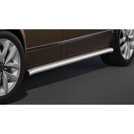 Boční ochranný rám z nerezové oceli kartáčovaná (matná), dlouhý rozvor Ø 60 mm pro VW T5 a T6