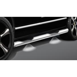 Boční rám s nášlapem, osvětlený, dlouhý rozvor, nerezová ocel Ø 60 mm pro VW T5 a T6