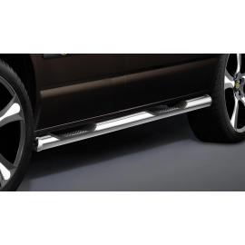Boční rám s nášlapem, krátký rozvor, 2 posuvné dveře, nerezová ocel Ø 60 mm pro VW T5 a T6