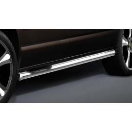 Boční rám s nášlapem, dlouhý rozvor, 1 posuvné dveře, nerezová ocel Ø 60 mm pro VW T5 a T6