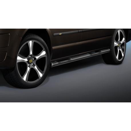 Boční rám s nášlapem v černé, krátký rozvor, 2 posuvné dveře, nerezová ocel Ø 60 mm pro VW T5 a T6