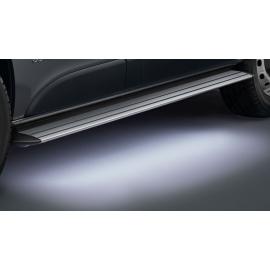 Hliníkové schody s LED osvětlením, dlouhý rozvor pro VW T5 a T6