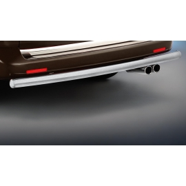 Zadní ochranný rám z nerez oceli, kartáčovaná (matná) Ø 60 mm pro VW T5 + T6
