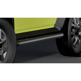 Boční rámy z nerezové oceli černé, Ø 60 mm pro Suzuki Jimny