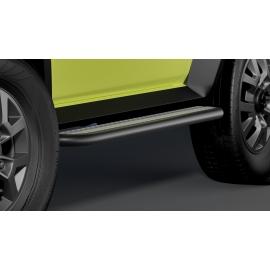 Schody z nerezové oceli černé / hliníkové pro Suzuki Jimny