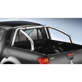 Rám korby z nerezové oceli Ø 60 mm, dvojitá kabina pro Fiat Fullback/Mitusbishi L200