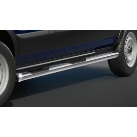 Boční schody s nášlapy, nerezová ocel Ø 80 mm, pro rozvor 3 300 mm (L2) pro Ford Transit