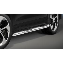 Boční rám s nášlapem, nerezová ocel Ø 80 mm pro Hyundai Tucson