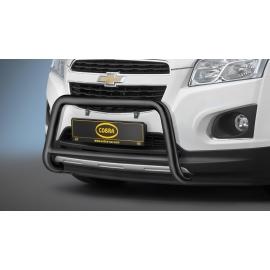 Přední rám z nerez oceli černá Ø 60 mm pro Opel Mokka a Chevrolet Trax