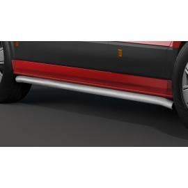 Boční ochranný rám z nerezové oceli kartáčovaná (matná), dlouhý rozvor Ø 60 mm pro VW Crafter a MAN TGE