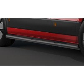 Boční rám s nášlapem, nerezová ocel Ø 80 mm, černé, pro středový rozvor VW Crafter & MAN TGE, pohon předních kol
