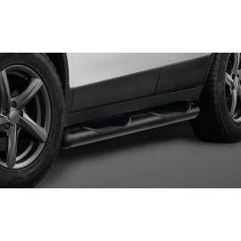 Boční rám s nášlapy, nerezová ocel černá Ø 80 mm pro Opel Mokka a Chevrolet Traxx
