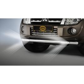 Přední ochranná trubka s LED denními světly Ø 60 mm pro model Mitsubishi Pajero V80
