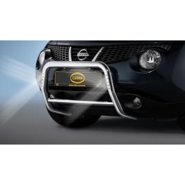 Přední rám z nerezové oceli s LED denními světly Ø 60 mm pro Nissan Juke