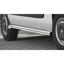 Boční rám z nerezové oceli (matné), dlouhý rozvor Ø 60 mm pro Nissan NV400 Opel Movano Renault Master