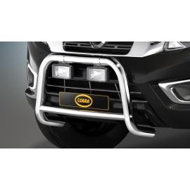 Přední rám z nerez oceli chrom Ø 60 mm, pro Nissan pickup Navara D23 NP300, u vozidel bez AEB systému