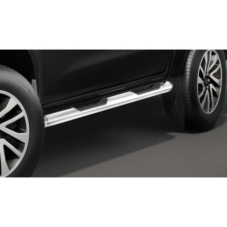 Boční rám s nášlapy, nerezová ocel Ø 80 mm pro Nissan Navara D23 NP300, Renault Alaskan