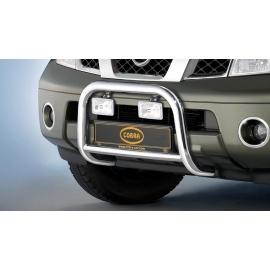 Přední rám z nerezové oceli chrom 60 mm pro Nissan Pathfinder & Pick Up Navara D40