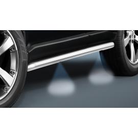 Boční rám s LED světly z nerezové oceli Ø 60 mm pro Nissan Navara / Pathfinder KC