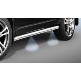 Boční rámy s LED světly z nerezové oceli Ø 60 mm pro Nissan Navara D40 DC