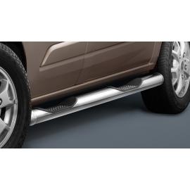 Boční rám s nášlapem, dlouhým rázem, nerezová ocel Ø 80 mm pro Ford Transit Custom & Tourneo Custom