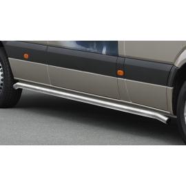 Boční rám z nerezové oceli kartáčovaný (matná), dlouhý rozvor Ø 60 mm pro Mercedes Sprinter a VW Crafter