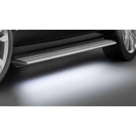 Hliníkové schody s LED osvětlením - posuvné dveře vpravo a vlevo - pouze krátký rozvor pro Mercedes V-Class & Vito & Viano