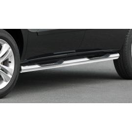 Boční rám s nášlapem, krátký rozvor, nerezová ocel Ø 60 mm pro Fiat Doblo Opel Combo