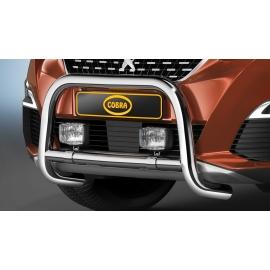 Přední rám z nerezové oceli chrom 60 mm pro Peugeot 3008 a 5008, Opel Grandland X