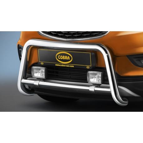 Přední rám z nerezové oceli chromu Ø 60 mm pro Opel Mokka X.