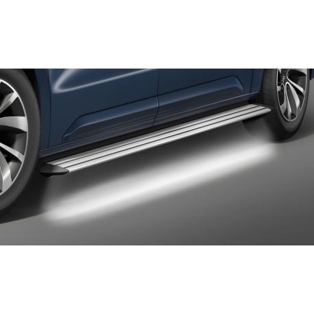 Hliníkové schody s LED osvětlením, rozvor 2,925 mm, pro Citroen Jumpy + Space Tourer, Peugeot Traveler + Expert (Tepee)
