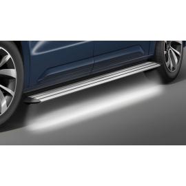 Hliníkové schody s LED osvětlením, rozvor 3,275 mm, pro Citroen Jumpy + Space Tourer, Peugeot Traveler + Expert (Tepee)