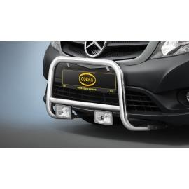 Přední rám z nerezové oceli chromu Ø 48 mm pro Renault Kangoo a Mercedes Citan