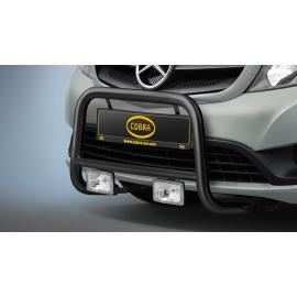 Přední rám z nerezové oceli černý Ø 48 mm pro Mercedes Citan a Renault Kangoo